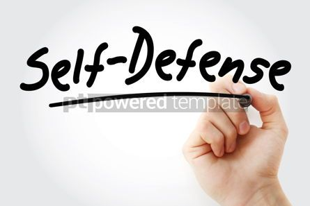 Business: Hand writing Self-defense with marker #09117