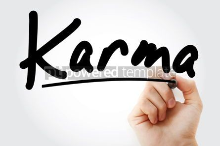 Business: Hand writing Karma with marker #09118