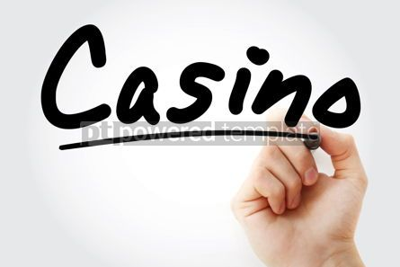 Business: Hand writing Casino with marker #09119