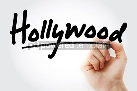 Business: Hand writing Hollywood with marker #09125