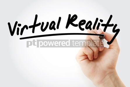Business: Hand writing Virtual Reality with marker #09127