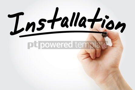 Business: Hand writing Installation with marker #09131