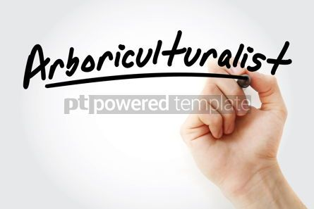 Business: Hand writing arboriculturalist with marker #09135