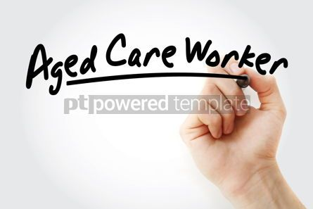 Business: Hand writing aged care worker with marker #09137