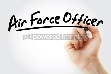 Business: Hand writing air force officer with marker #09138