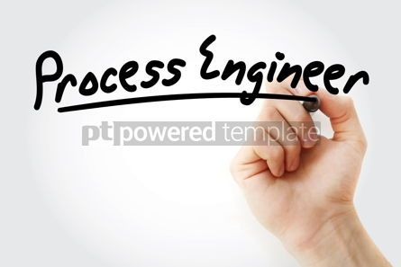 Business: Hand writing process engineer with marker #09141