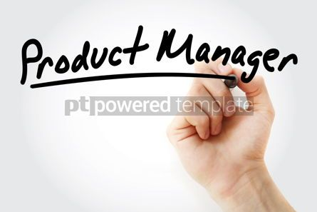 Business: Hand writing product manager with marker #09143