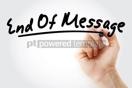 Business: EOM - End Of Message acronym #09148