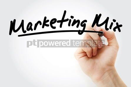 Business: Hand writing Marketing mix with marker #09165