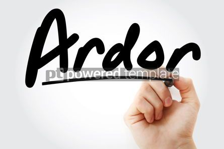 Business: Hand writing Ardor with marker #09169