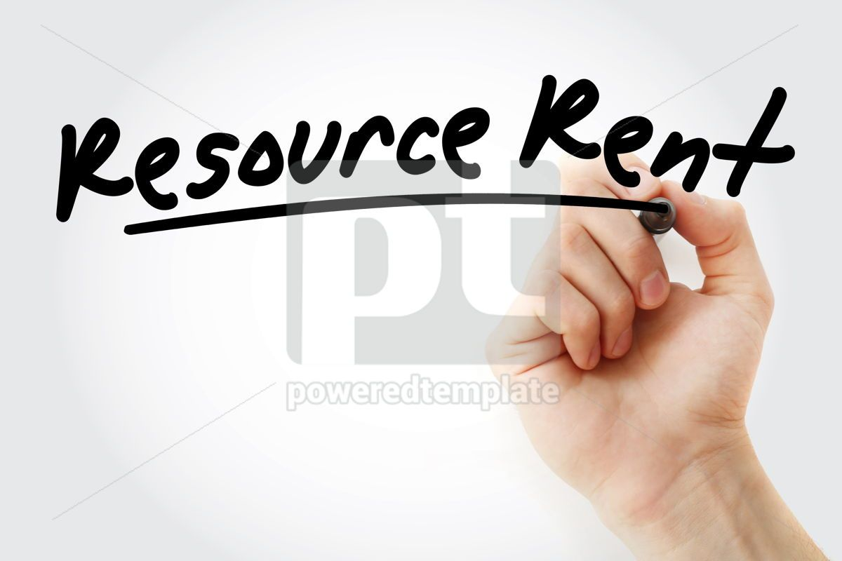 RR - Resource Rent acronym with marker, 09206, Business — PoweredTemplate.com