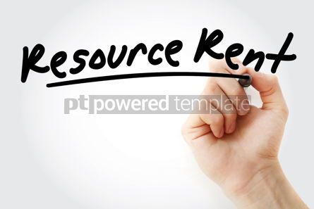 Business: RR - Resource Rent acronym with marker #09206