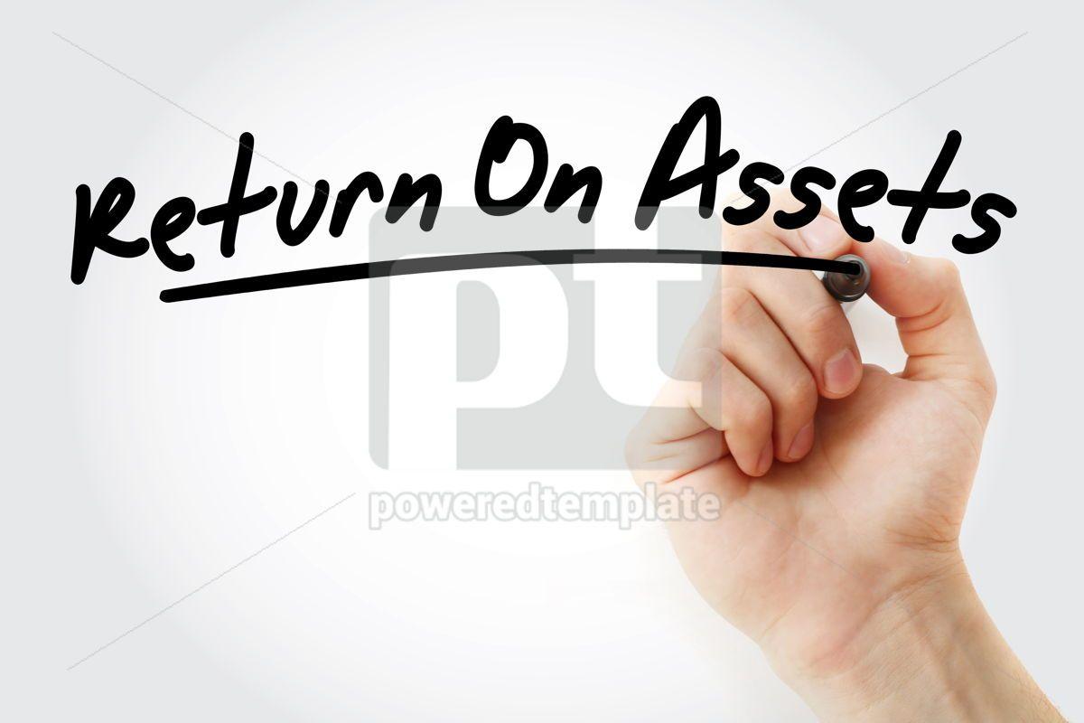 RONA - Return On Net Assets acronym with marker, 09208, Business — PoweredTemplate.com