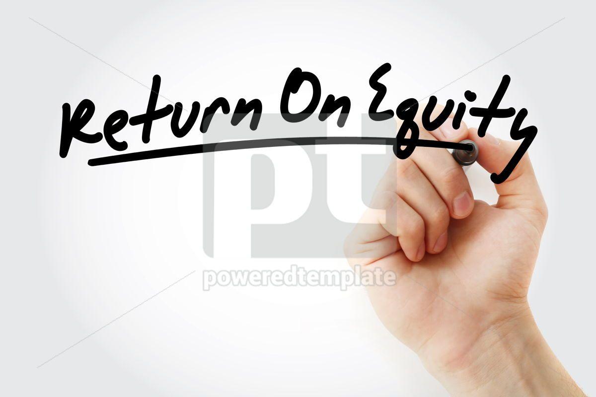 ROE - Return On Equity acronym, 09209, Business — PoweredTemplate.com
