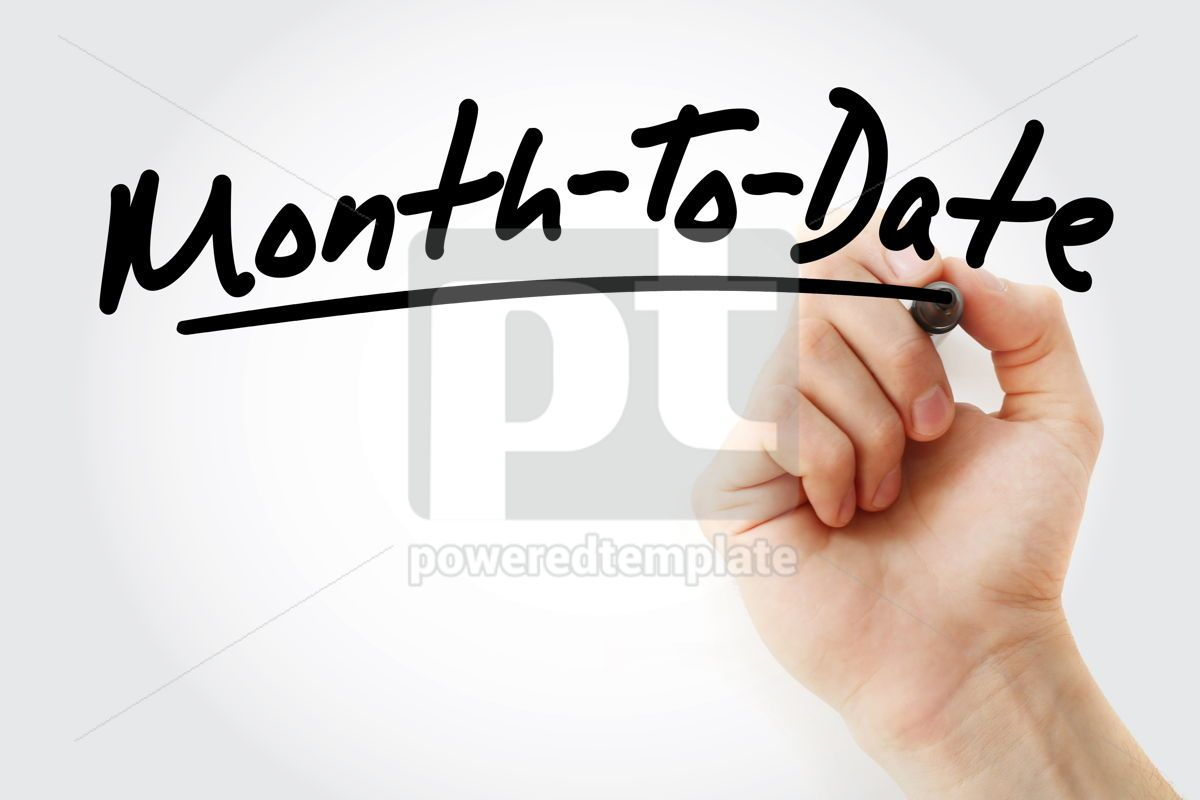MTD - Month To Date acronym, 09210, Business — PoweredTemplate.com