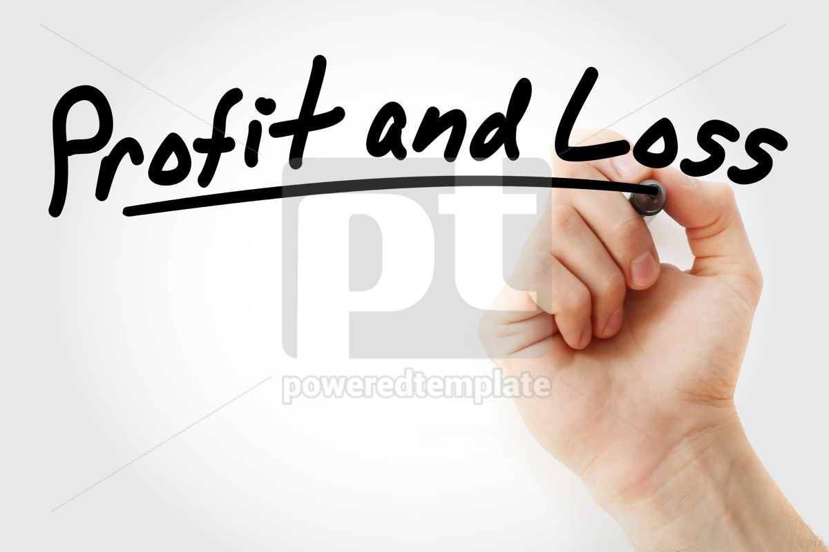 P&L - Profit and Loss acronym, 09221, Business — PoweredTemplate.com