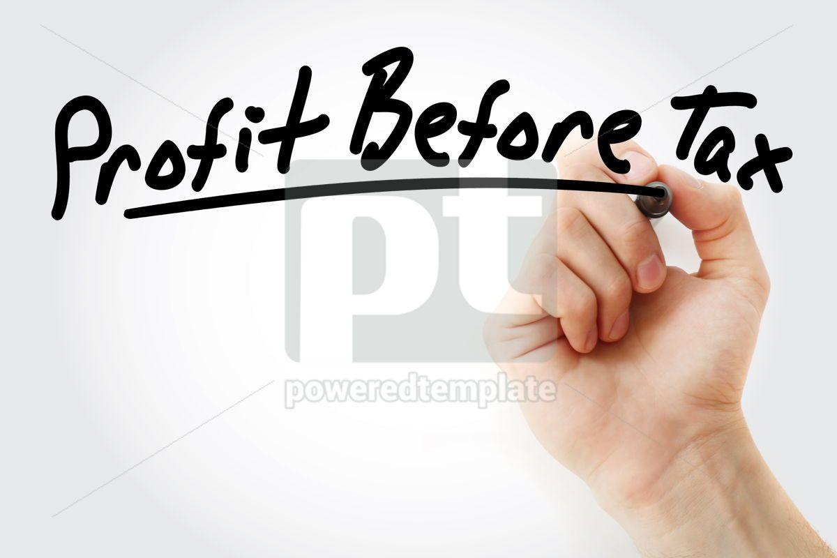 PBT - Profit Before Tax acronym, 09222, Business — PoweredTemplate.com