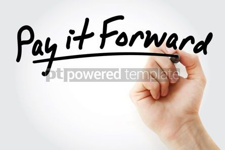 Business: PAY IT FORWARD text with marker #09230