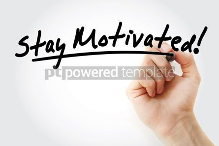 Business: Stay motivated! text with marker #09231