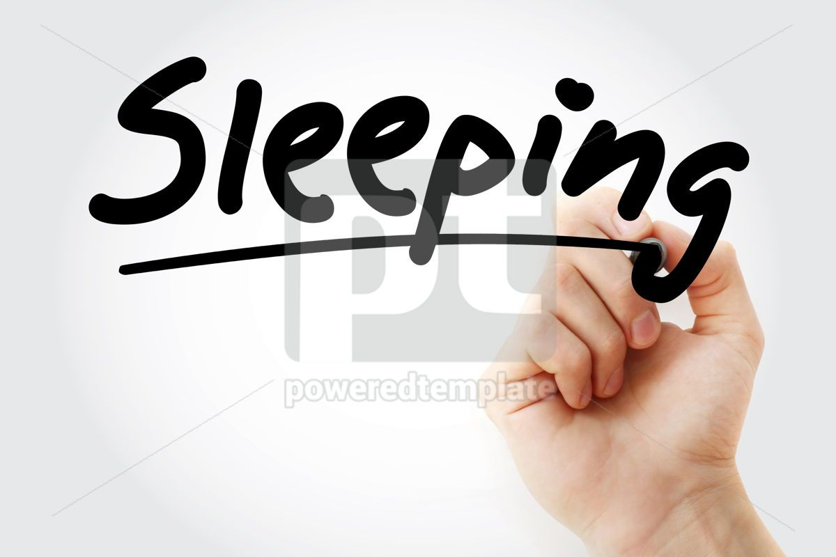 Sleeping text with marker, 09232, Business — PoweredTemplate.com