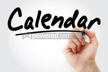 Business: Calendar text with marker #09233