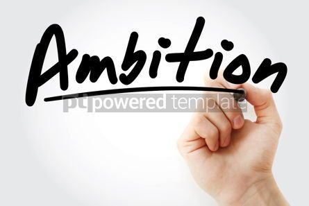 Business: Ambition text with marker #09234