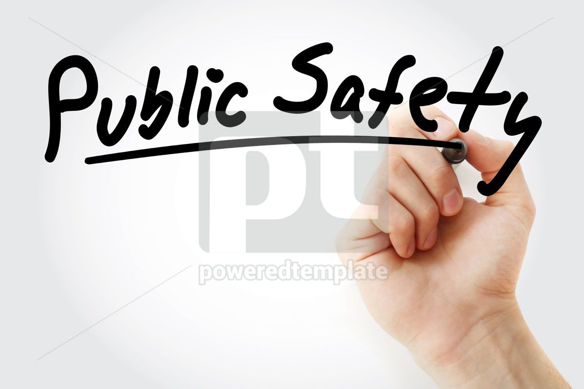 Public Safety text with marker, 09235, Health — PoweredTemplate.com