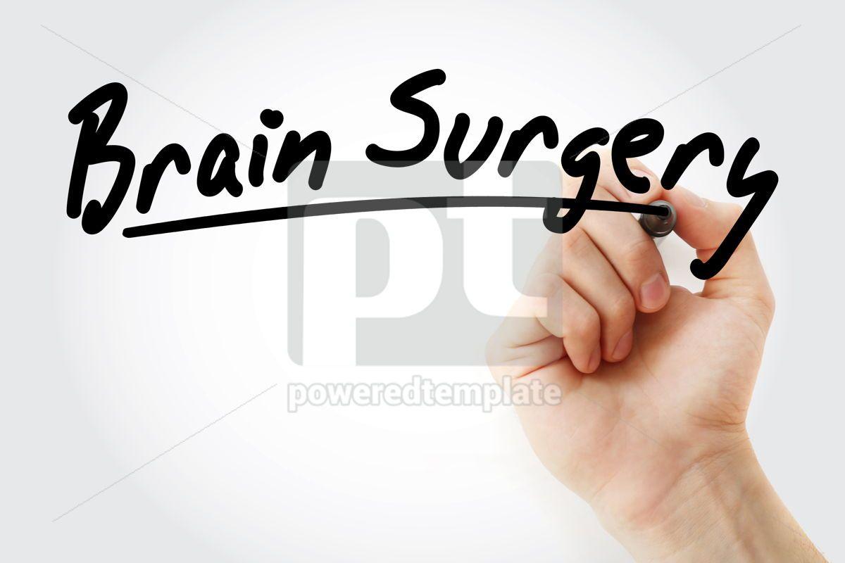 Brain Surgery text with marker, 09239, Health — PoweredTemplate.com