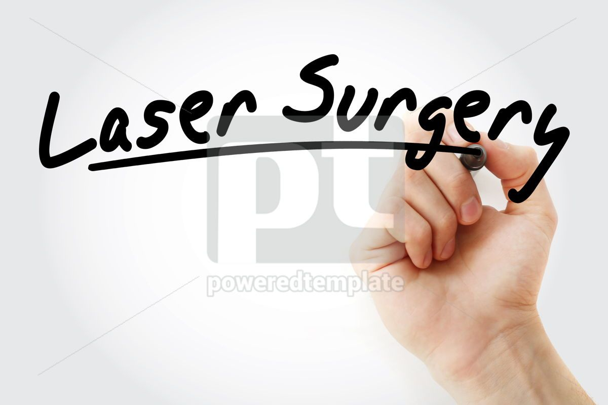 Laser Surgery text with marker, 09241, Health — PoweredTemplate.com