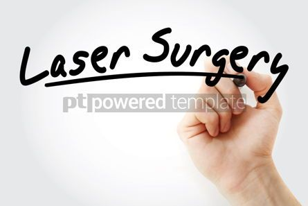 Health: Laser Surgery text with marker #09241