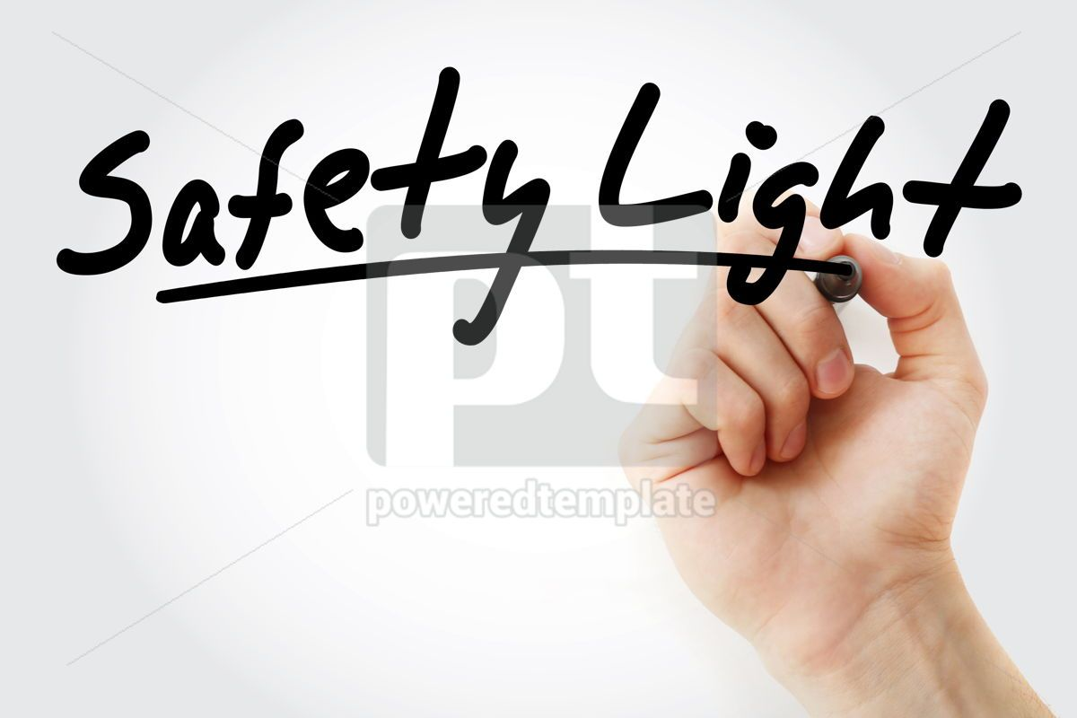 Safety Light text with marker, 09243, Health — PoweredTemplate.com