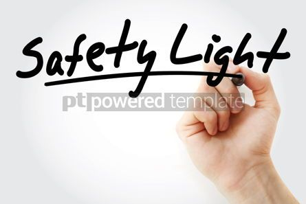 Health: Safety Light text with marker #09243