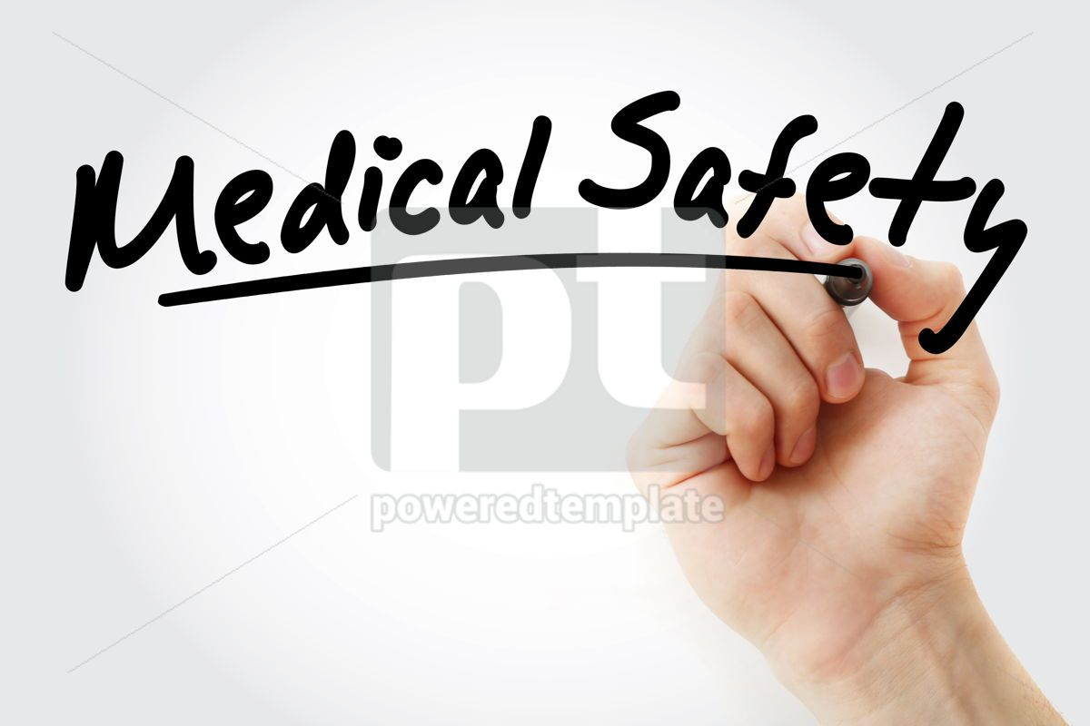 Medical Safety text with marker, 09244, Health — PoweredTemplate.com