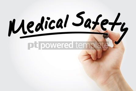 Health: Medical Safety text with marker #09244