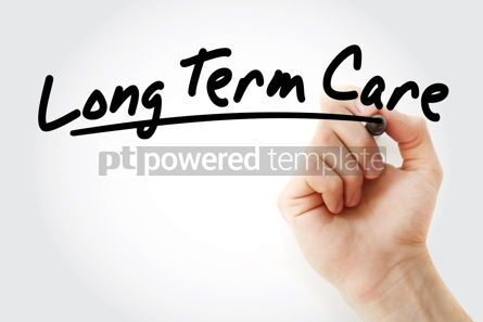 Business: Long Term Care text with marker #09246
