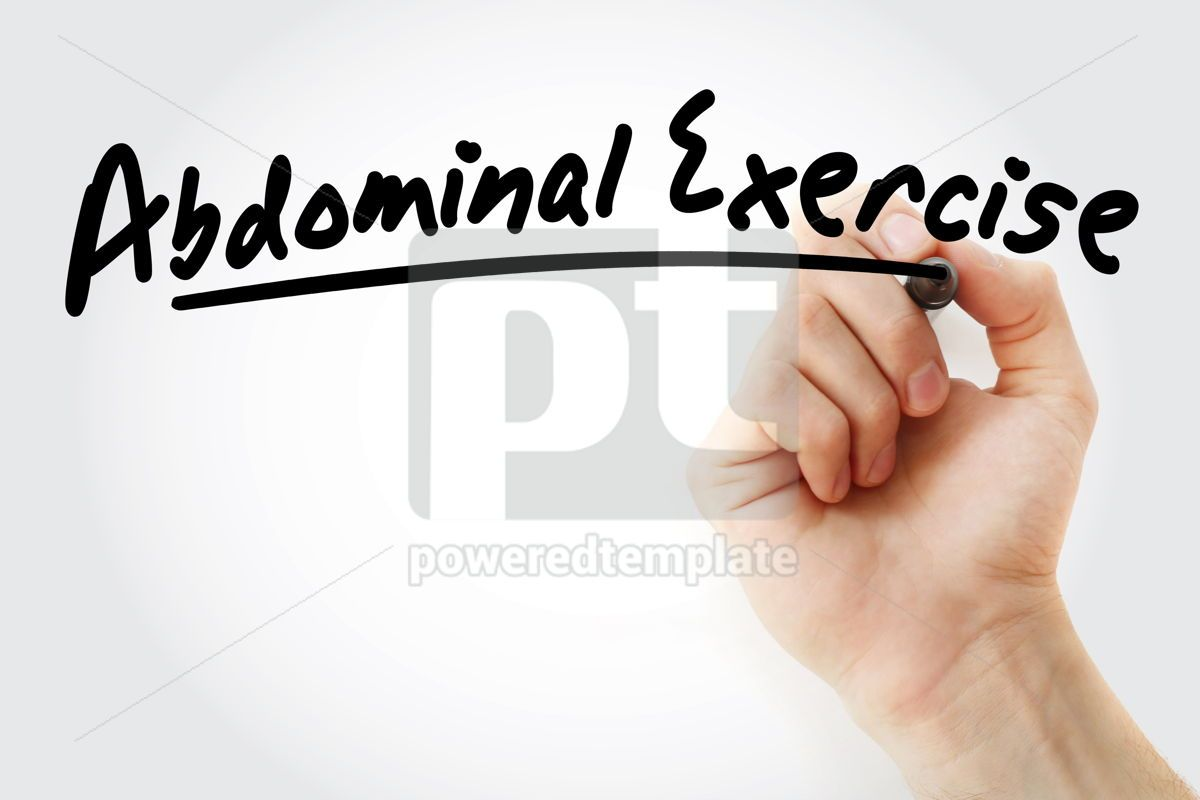 Abdominal Exercise text with marker, 09250, Business — PoweredTemplate.com