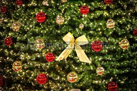 Holidays: Close up Christmas tree decoration details #09255