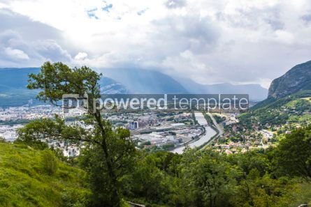 Architecture : Panoramic aerial view of Grenoble city France #09269