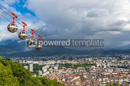 Architecture : Panoramic aerial view of Grenoble city France #09272