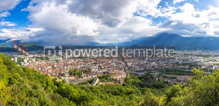 Architecture : Panoramic view of Grenoble Rhone-Alpes France #09274