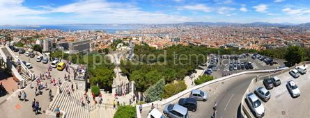 Architecture : Aerial panoramic view of Marseille city France #09275