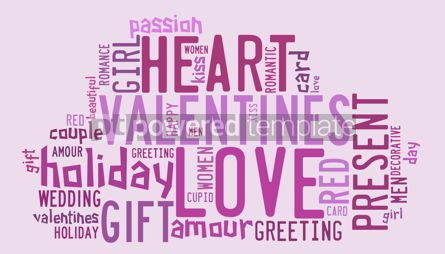 Abstract: Valentines day concept in word tag cloud #09287