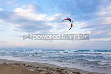 Nature: Kitesurfing on a Lady's Mile beach Limassol Cyprus #09296