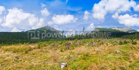 Nature: Panoramic view of High Tatras Mountains in Slovakia #09300