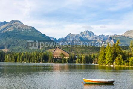 Nature: Mountain lake Strbske pleso High Tatras Slovakia #09303