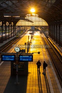 Transportation: Lubeck Hauptbahnhof railway station Germany #09315
