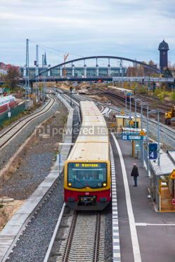 Transportation: Ostkreuz S-Bahn suburban railway station in Berlin Germany #09316