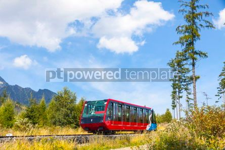Transportation: Cable railway in High Tatras Slovakia #09321