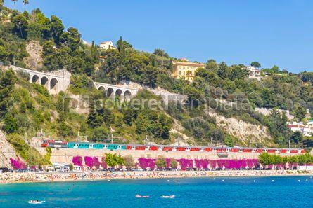 Nature: Summer coastline in Villefranche-sur-Mer City of Nice France #09332
