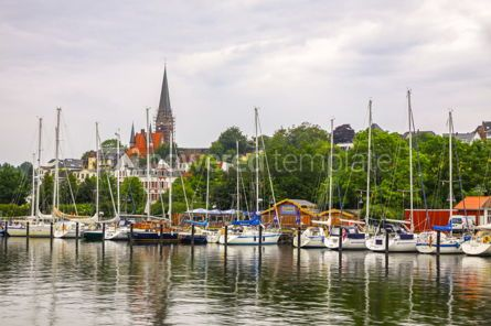 Nature: Vew of harbour in Flensburg city Germany #09336